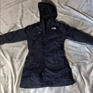 Girls north face coat size xs